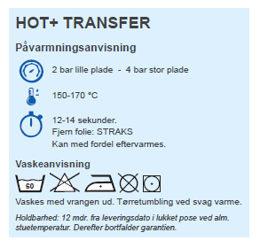 Hot+ Vaskeanvisning
